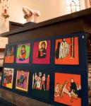 Paneel en beeld altaar